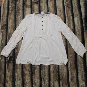 🎀3/$30 Knox Rose Off White Long Sleeve Blouse
